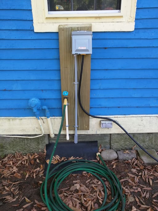 Water and electricity hook-ups