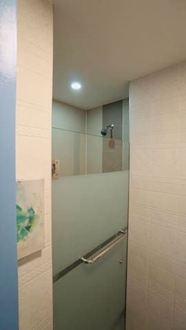 Enclosed shower area