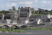 le château royal d' Amboise côté  Loire