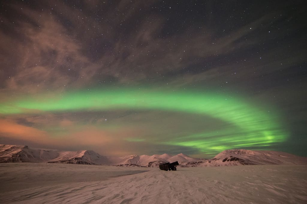 Northern lights, a pictures taken by Haraldur Guðjónsson