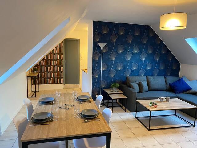 Appartement chaleureux à Cherbourg (2-4 pax.)