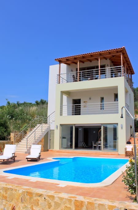 Theocharis Villa Exterior - Private Pool