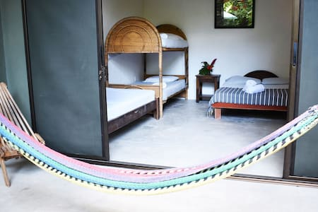 Pachamama Surf Camp. Shared Room. Jungle garden!