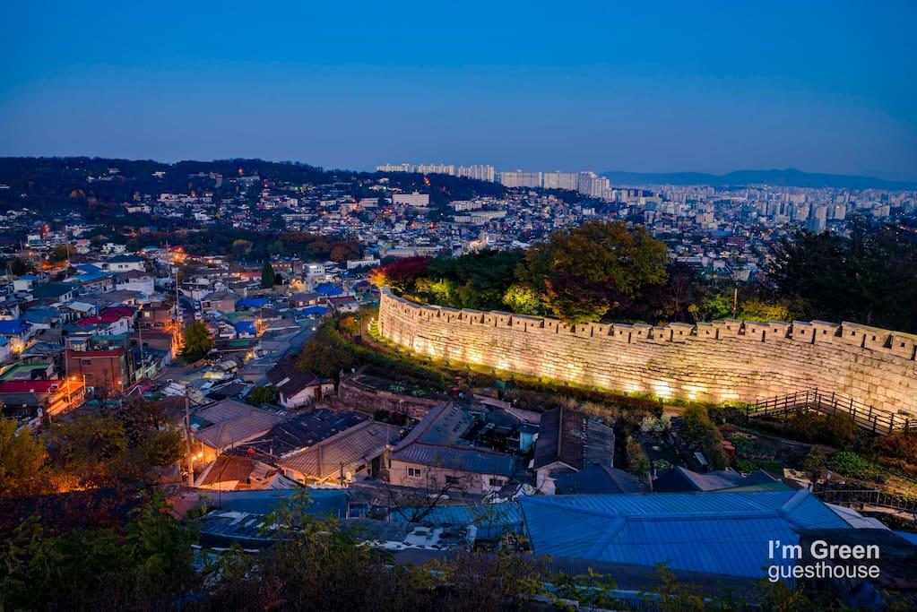 Bukjeong village view : I'm Green located