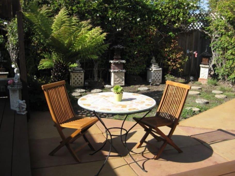 Private, peaceful backyard