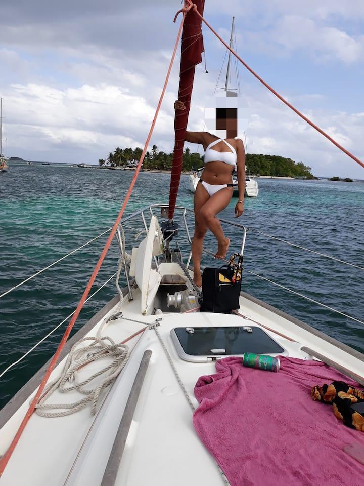 Croisière / hébergement en voilier  Marie Galante
