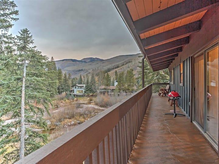 !Vail 1BR+Loft BR w/ Mtn/Creek Views!-free shuttle