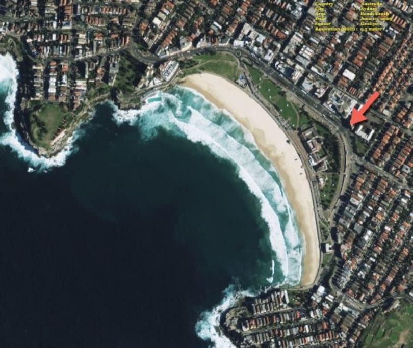 Location - opposite Bondi Pavilion, central Bondi Beach
