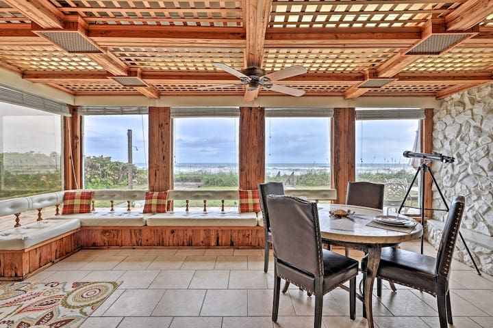 Beachfront Indialantic House w/ Furnished Patio!