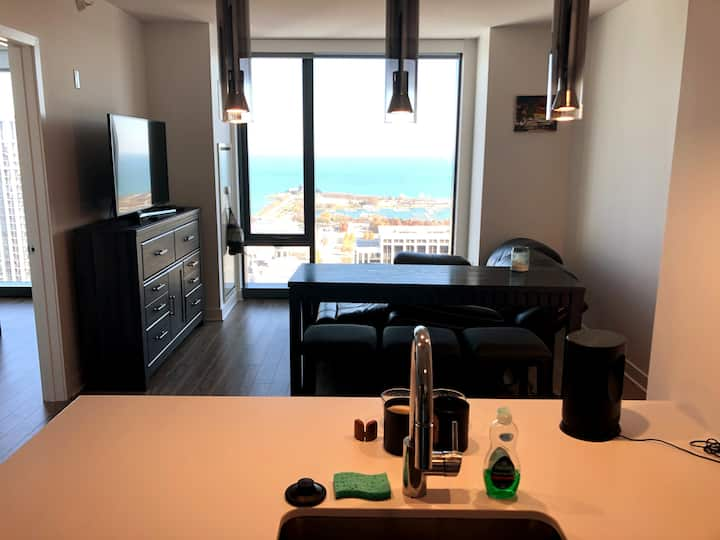South Loop | Modern 1BR/1Bath + Jacuzzi / Gym