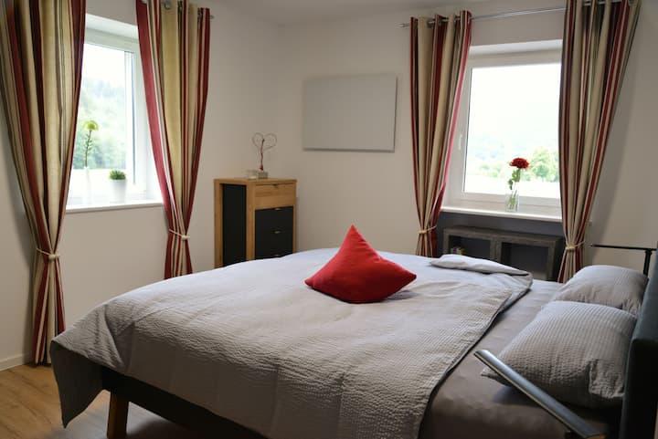 Ferienwohnung Geisbergblick, (Seelbach), Ferienwohnung mit Pool, 70qm, 2 Schlafzimmer, max. 4 Personen
