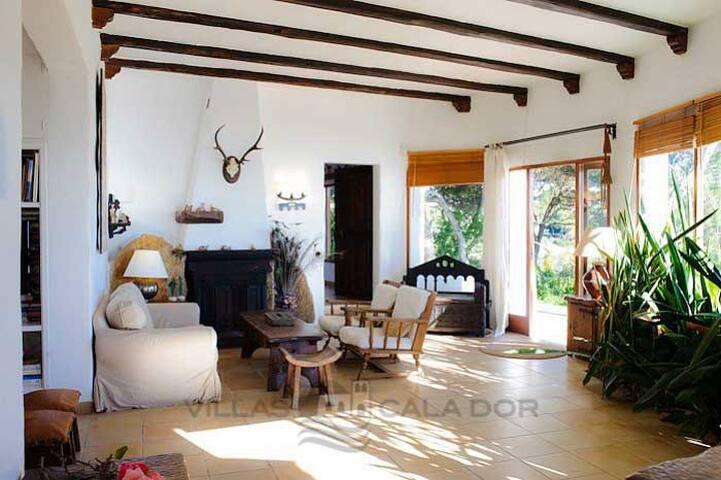 Living room chimeney