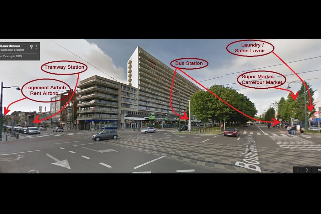 Carrefour Chaussée de Gand / Boulevard Metewi :