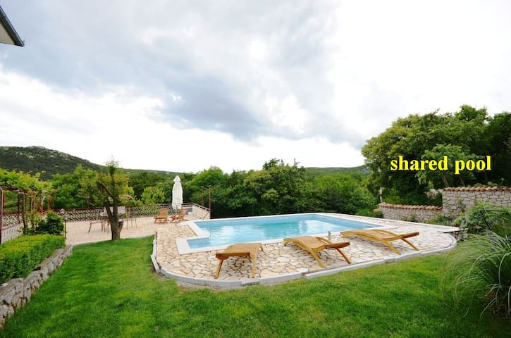 One bedroom Apartment, in the countryside in Novi Vinodolski (Crikvenica), Outdoor pool, Terrace