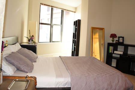 Large Luxury Bedroom next to Metro