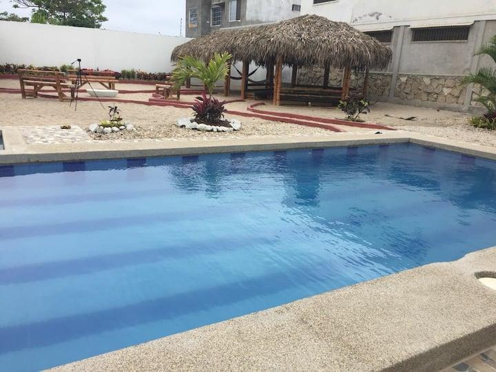Habitación matrimonial en Fogata Hostel
