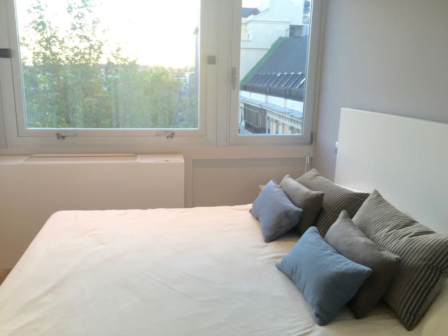 Room 1 with double window and impressive views