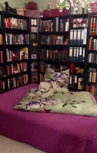 Schlafmöglichkeit in gemütlicher Bibliothek - Nauheim