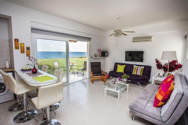 Seafront, comfortable apartment in Zygi area