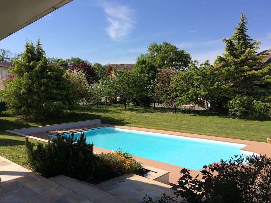 Maison avec piscine et parc annecy seynod maisons - Location maison avec piscine annecy ...