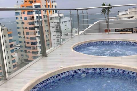 Suite en Torre Marbella - Salinas. Vista al mar.