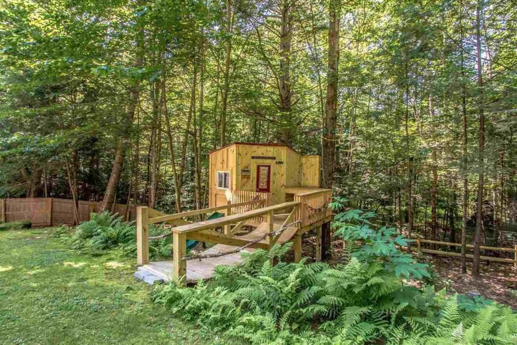 Kids will love the treehouse and the two zip lines!
