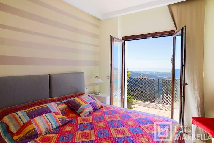 Bedroom 4 views & terrace