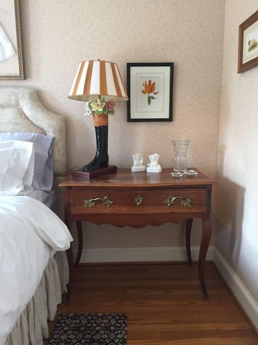 Side desk in master bedroom.