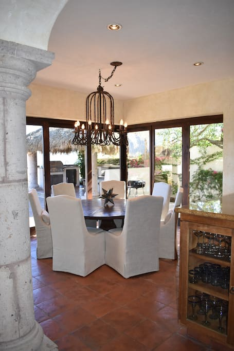Dining Room - with doors that completely open onto patio.