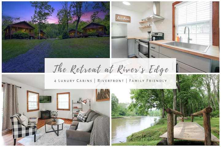 ♥4 LUXURY RIVERFRONT CABINS♥ Contact for Quote!