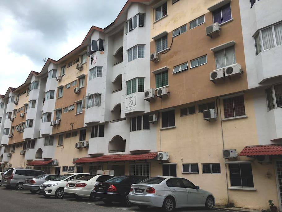 minG Su Malacca Homestay is located at Level 2 (Q-2-6) of Pangsapuri Hilir Kota 1
