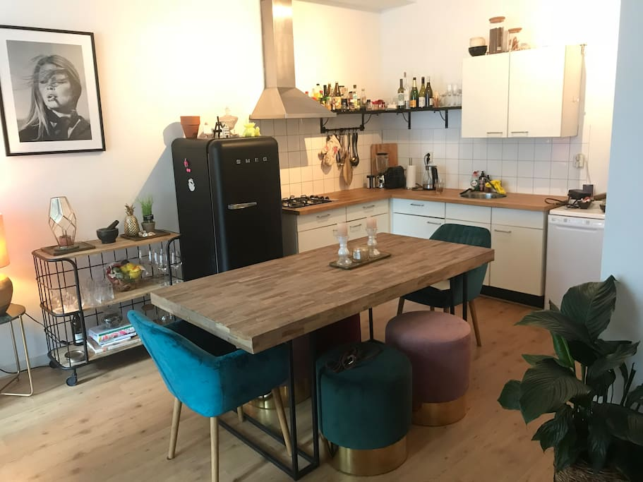 The kitchen with Nice diningtable