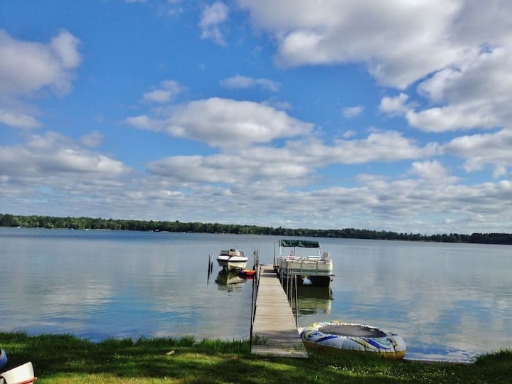 Northwoods Home on Clam lake