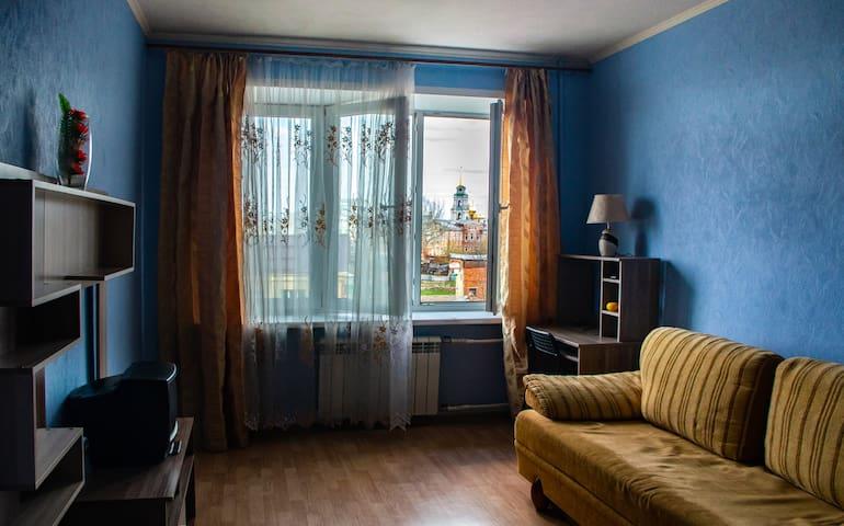 Светлая квартира с видом на тульский кремль