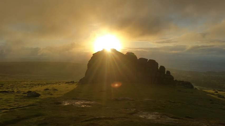 Dawn at Hound Tor in Dartmoor National Park