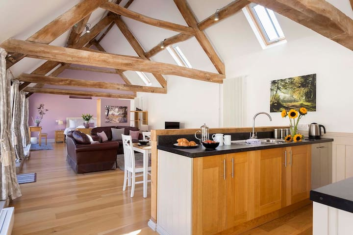A one bed Characterful converted Dairy on a Farm