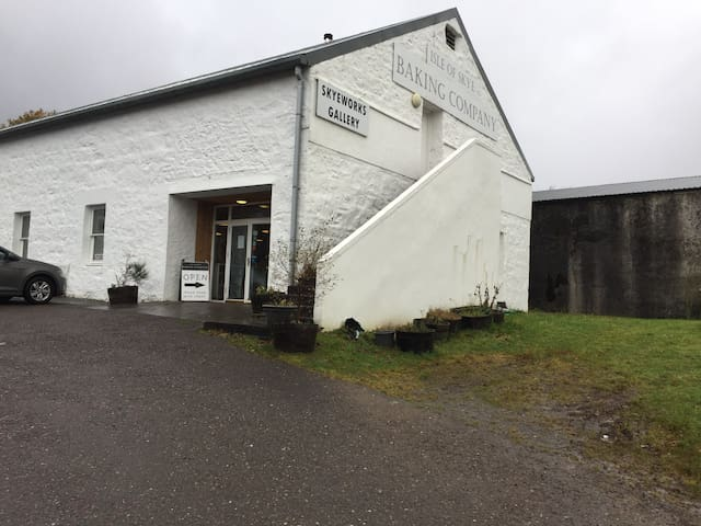 This is the Isle of Skye bakery which is a sit in eating place next to our Garden Room. Opens at 10 am and serves gluten free food.