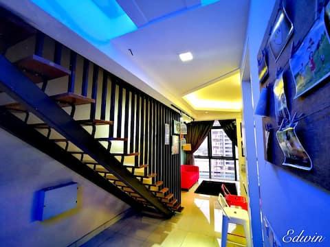 Luxury Duplex Loft梦幻特色双层豪华公寓
