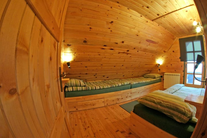 Triple room with a view in the cabin (HALF BOARD)