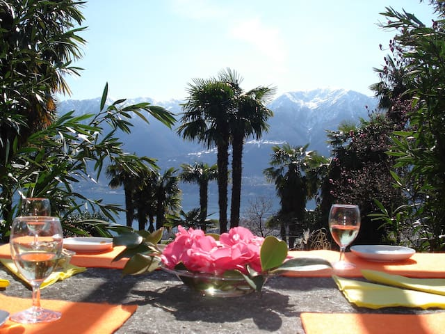 cosy studio, central but in nature - Locarno