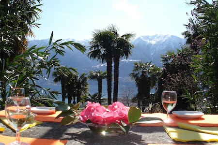 cosy studio, central but in nature - Locarno - Wohnung