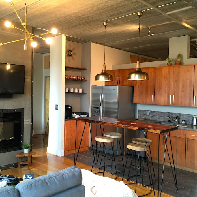 Kitchen with Coffee Bar