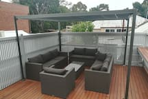 Roof deck and bar area