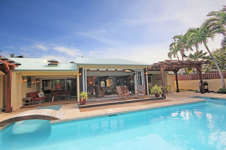Lei Ohana: Perfect Multi-Family Estate With Private Pool Family-Fun Outdoor Area And Guest House