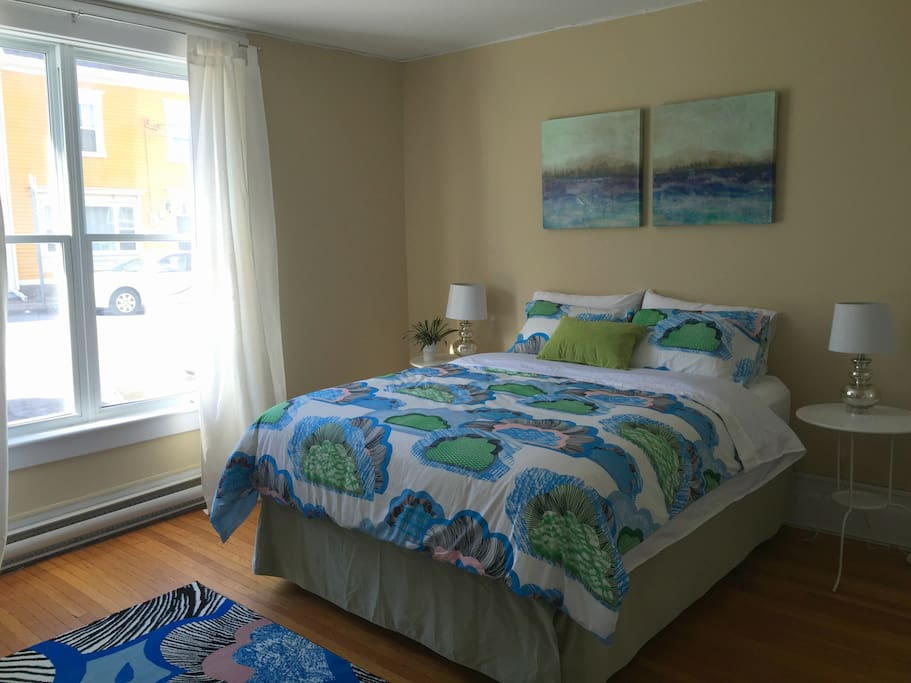 Large windows throughout the home let in lots of light and give you a perfect view of the famous row houses featured in NL's most recent tourism commercial (Google 'Jellybean Row, NL - YouTube')