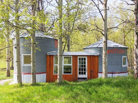 Mountain Yurts - Rustic Cabin in Alberta Foothills