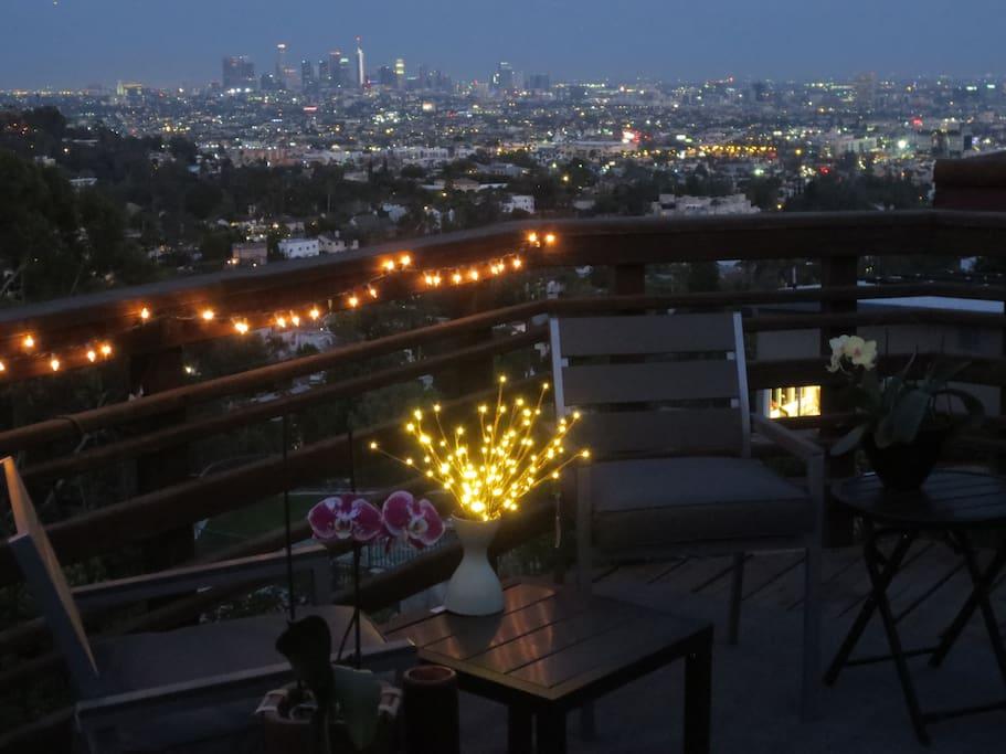 Balcony at night
