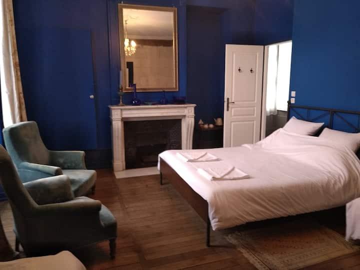 Chambre Privée( bleue) Sdb Châteaux de la Loire