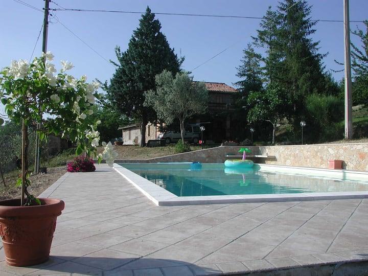 Casale con  piscina panoramicissimo Casaccia