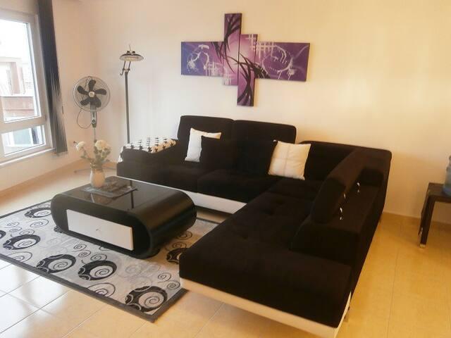 Tasokas ja valoisa kahden makuuhuoneen asunto - Alanya - Daire